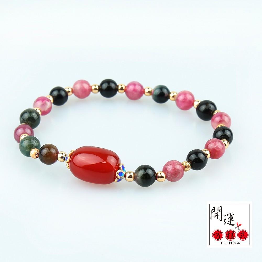 天然紅瑪瑙碧璽手鍊-珠寶首飾水晶瑪瑙玉石開運飾品配件
