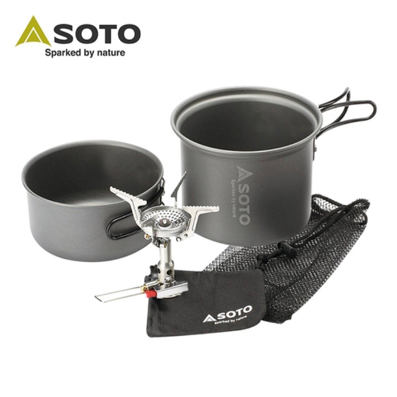 SOTO SOD-320CC (附鍋具、收納袋)攻頂爐 登山爐 登山 露營