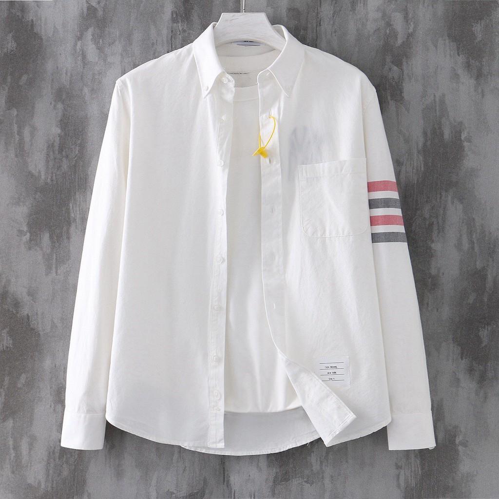 TB Browne經典色織四槓長袖襯衫