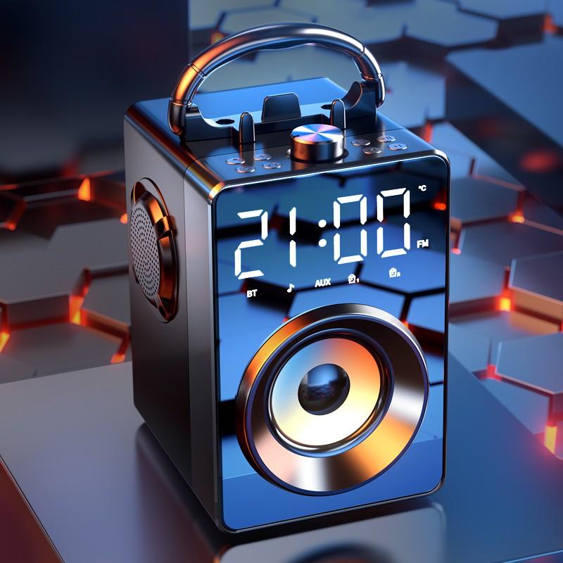 現貨 免運藍牙音箱 大音量 音響家用小型 便攜式 無線重低音3d環繞廣場舞戶外低音炮影響
