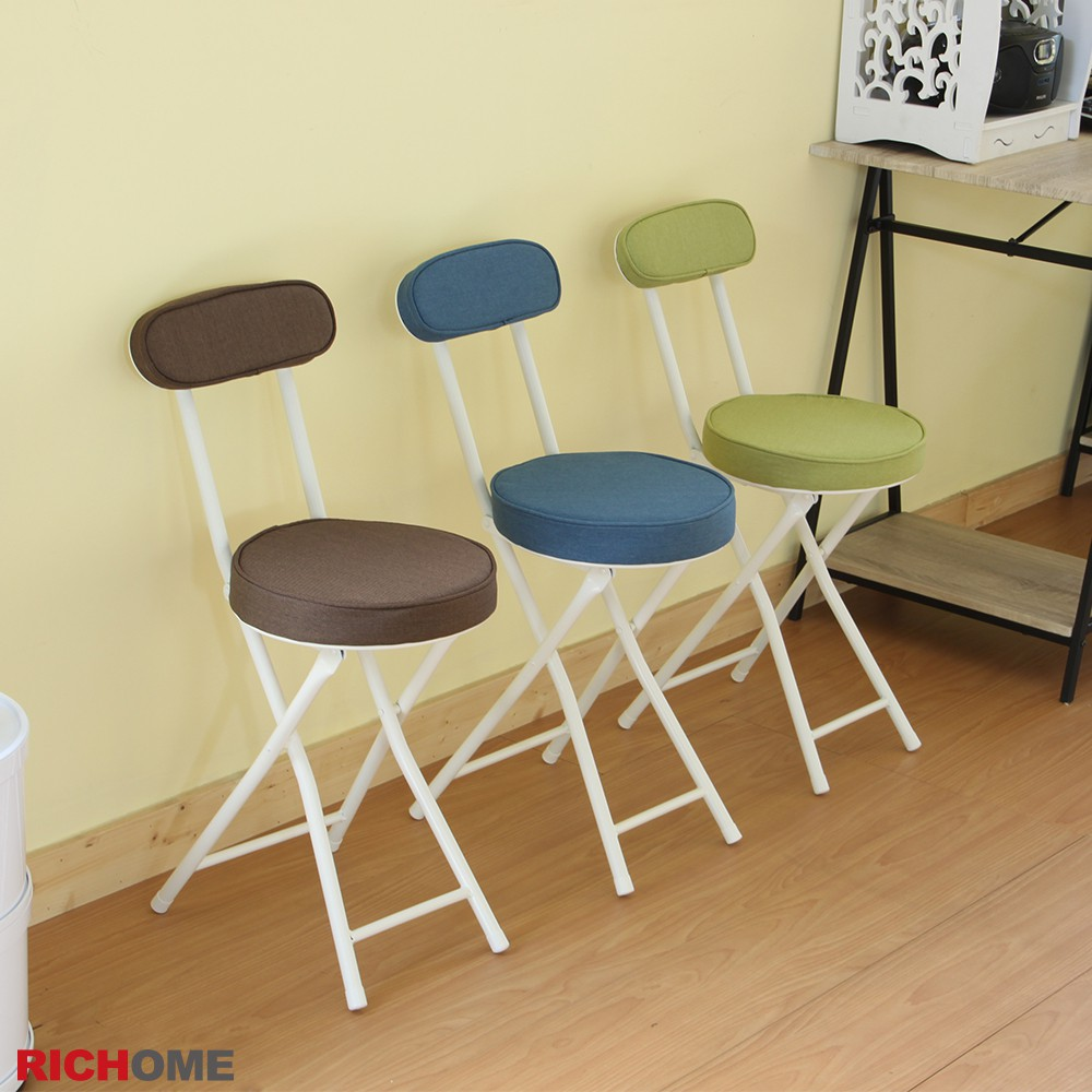 RICHOME  CH1047   ID日式多彩時尚折疊椅(6入)-3色   折疊椅  收納椅