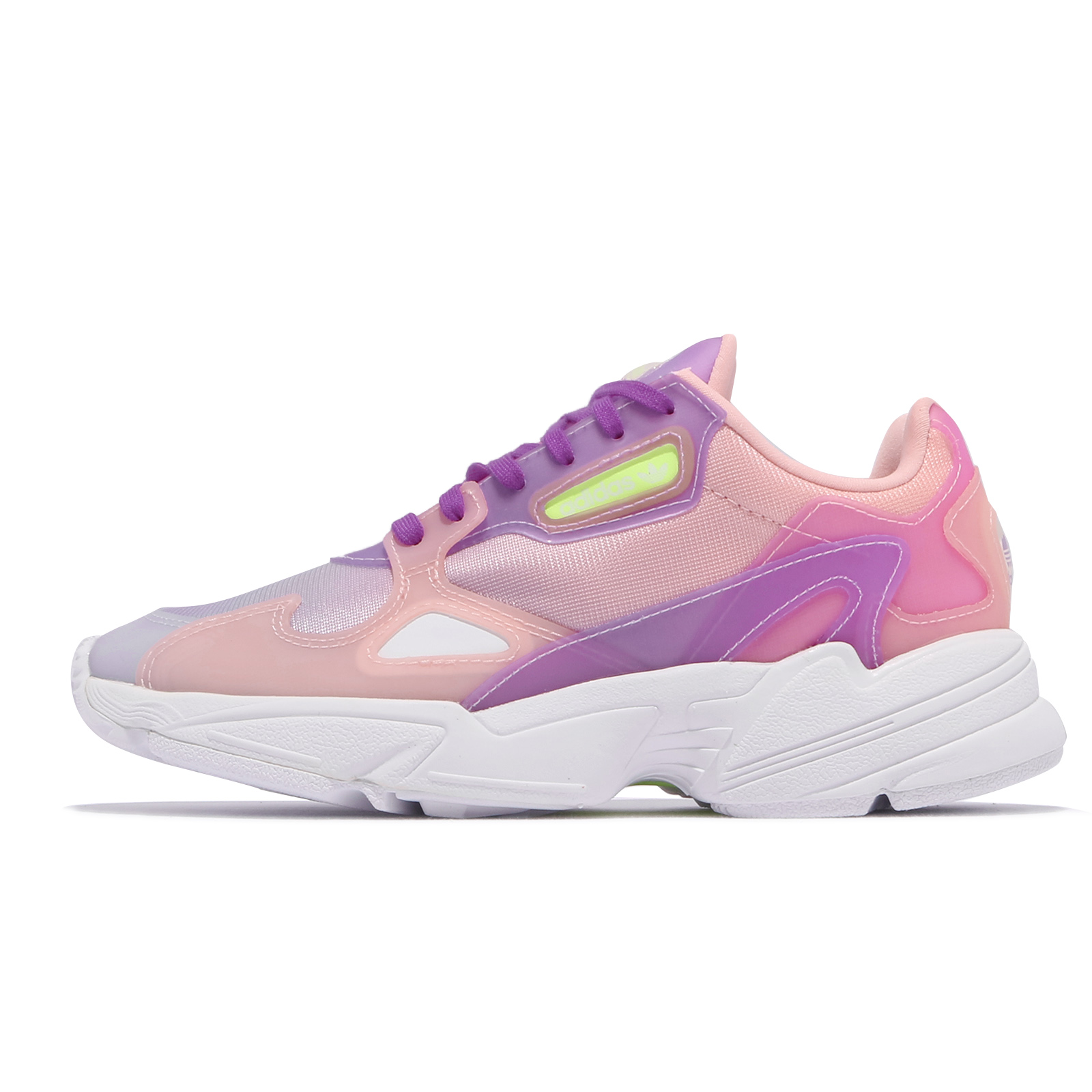 adidas 休閒鞋 Falcon W 紫 粉紫 女鞋 漸層 老爹鞋 三葉草 愛迪達 【ACS】 FW2486