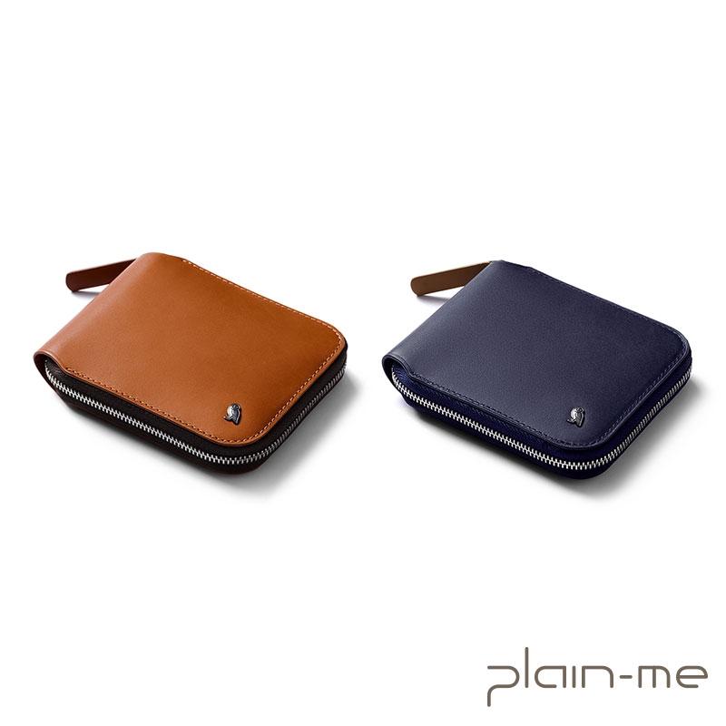 【plain-me】bellroy Zip Wallet 真皮拉鍊錢包 (駝/深藍) BRY3057