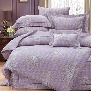 80支頂級雙線銀纖天絲 【雙人 加大 特大組合】規格可選  兩用被床包四件組 七件式鋪棉床罩組 蒂歐娜 台中市