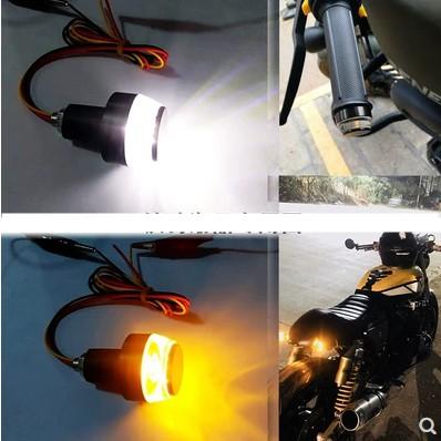 【現貨】車把 方向燈 把手端 LED方向燈 平衡端子 轉向燈 野狼 Ktr Aron 手把燈 握把燈 端子燈 檔車