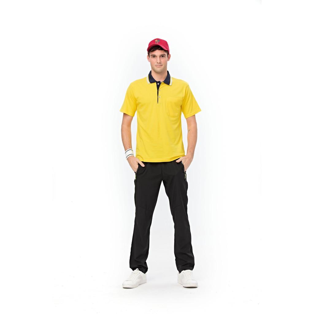 1913-6 金黃色-純棉短袖POLO衫*男女可穿 S~4L