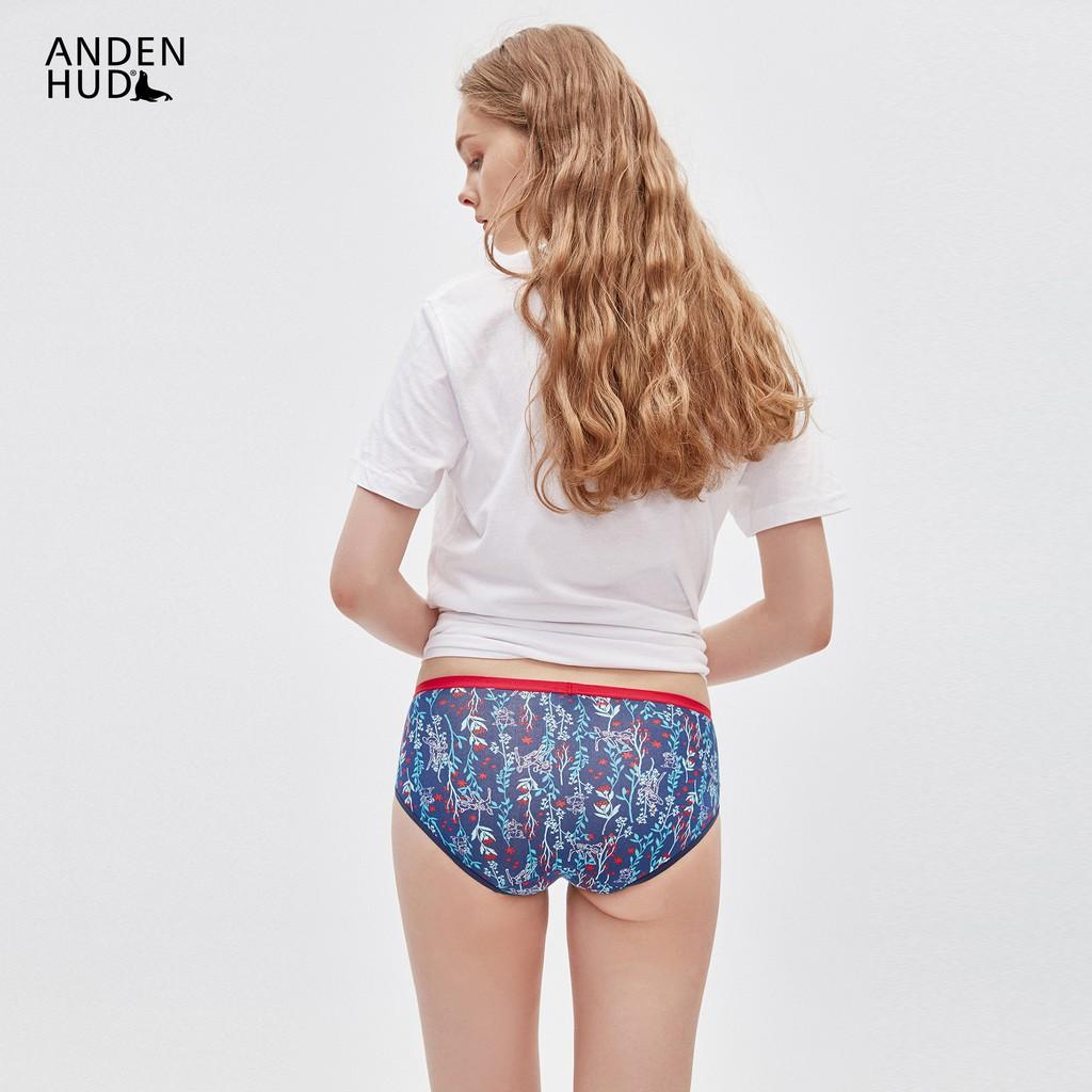 【Anden Hud】迪士尼系列.中腰三角內褲(深藍-森林斑比) 台灣製
