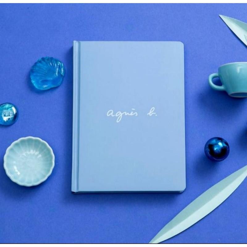agnes b.  藍色款 筆記本 正品 全新 2021年曆本 記事本 筆記本 agnes b.