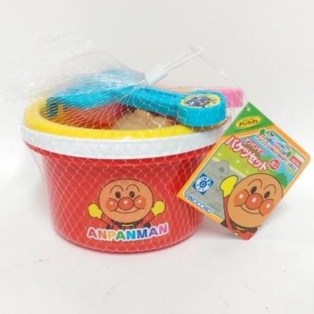 日本進口 麵包超人 挖沙玩具五件組(2746) -日本娃娃兵