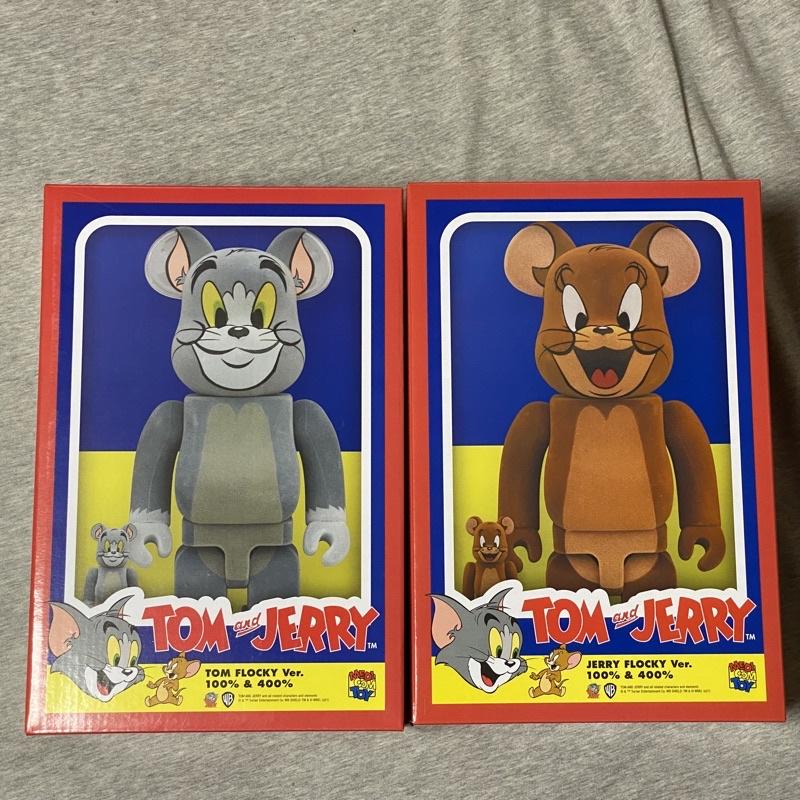 (現貨) BE@RBRICK  湯姆貓與傑利鼠    400+100%  植絨版