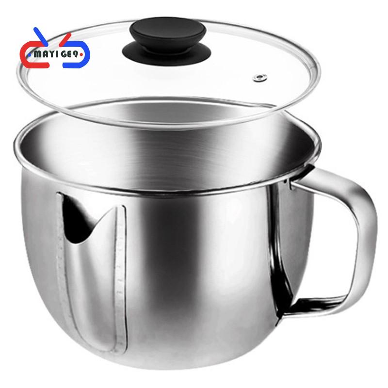 廚房油湯分離碗多功能304不銹鋼油脂過濾器烹飪鍋廚房小工具