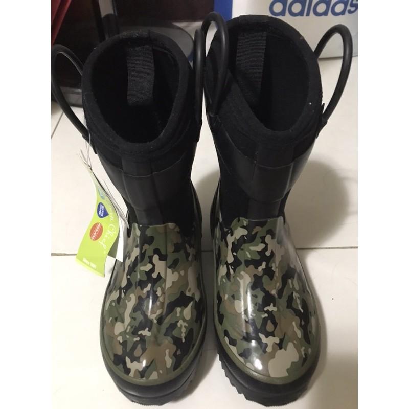 好市多 兒童雨鞋 迷彩 防寒 18cm(全新)