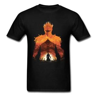 Mencool Tshirt劍客影子男式T恤圓領深色靈魂