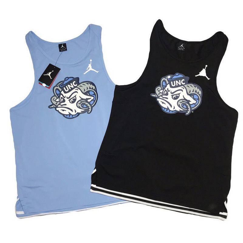 NCAA北卡大学背心 乔丹同款 Jordan 空中飞人同款背心 运动速干背心 篮球背心 T恤 训练服 投篮服 健身背心