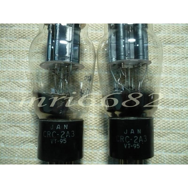 """""""真空管的異想世界"""" NO.8 RCA 黑屏 VT95 / JAN CRC 2A3 軍規管一對"""