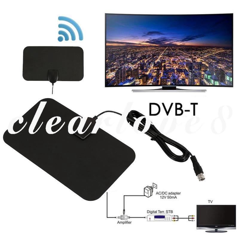 CL8天線35英里範圍數字4K電視HDTV天線35英里範圍數字電視HD 4K HDTV天線DVB-T LONG高增益