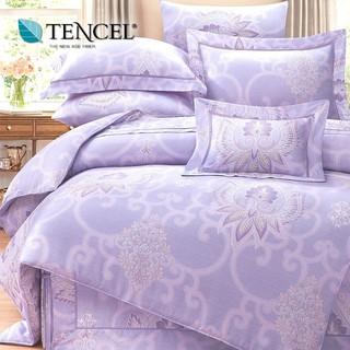 60支100%純天絲TENCEL【雙人 加大 特大組合】規格花色可選  兩用被床包四件組 七件式鋪棉床罩組 台中市