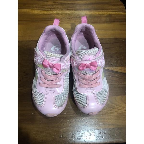 二手 moonstar 粉色 女童鞋 18cm