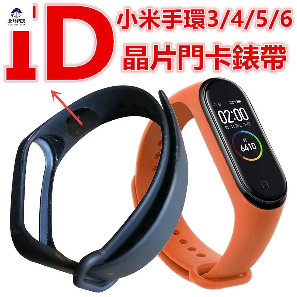 🌈台灣熱銷🌈可開門錶帶 5色可選 適用小米手環6/5/4/3 IC或ID晶片T5577門卡腕帶 NFC無法模擬ID加