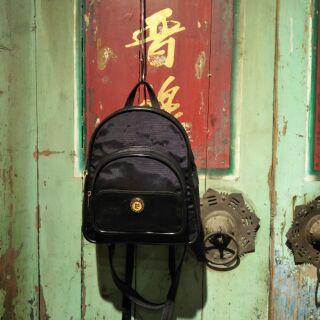 復古Pierre Cardin 手提/ 小後背包 尼龍+皮革 臺南市