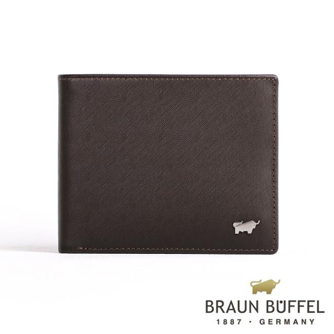 【BRAUN BUFFEL】HOMME-M系列5卡窗格皮夾(咖啡)BF306-316-ENY