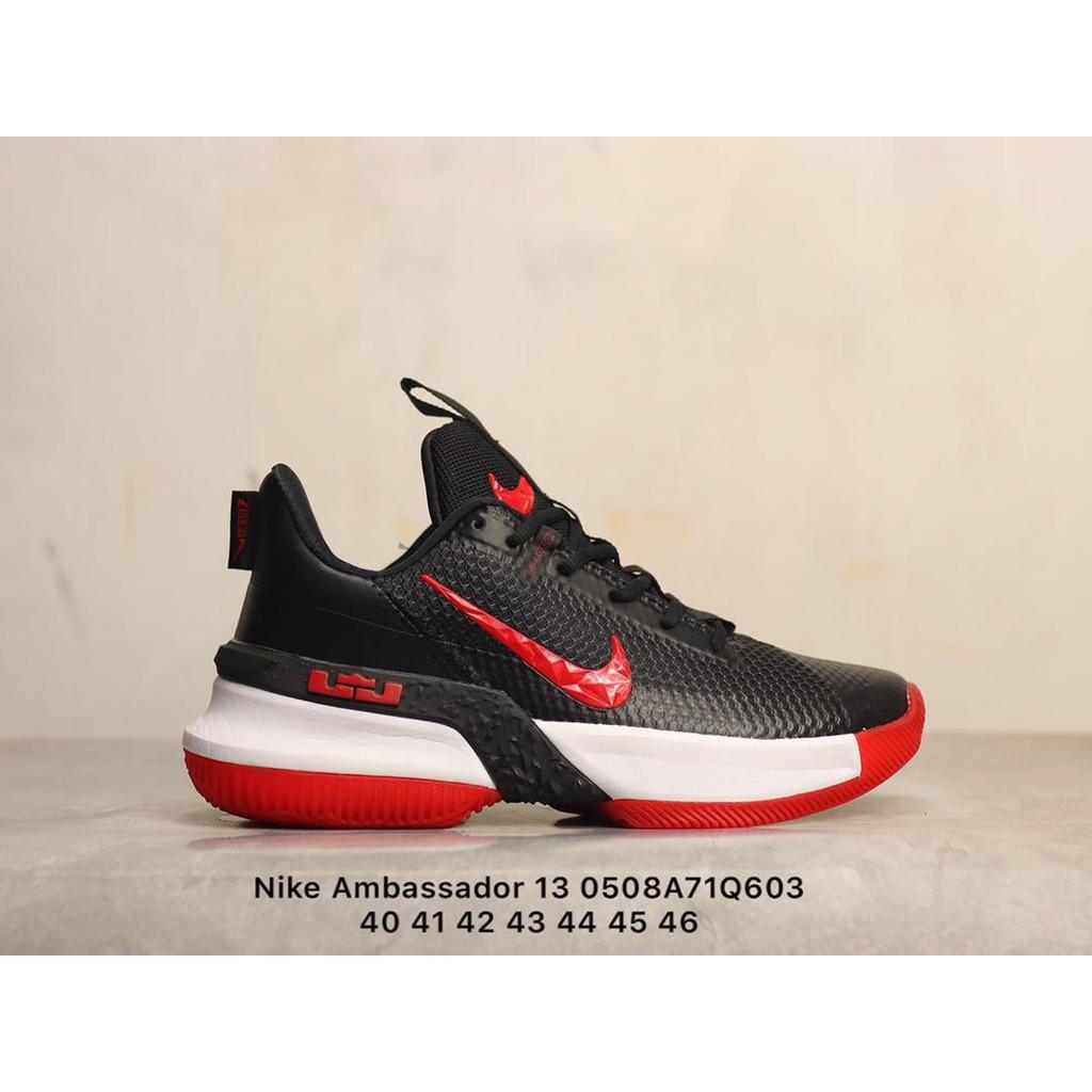 耐吉Nike Ambassador 13 使節13 黑紅白紅鉤