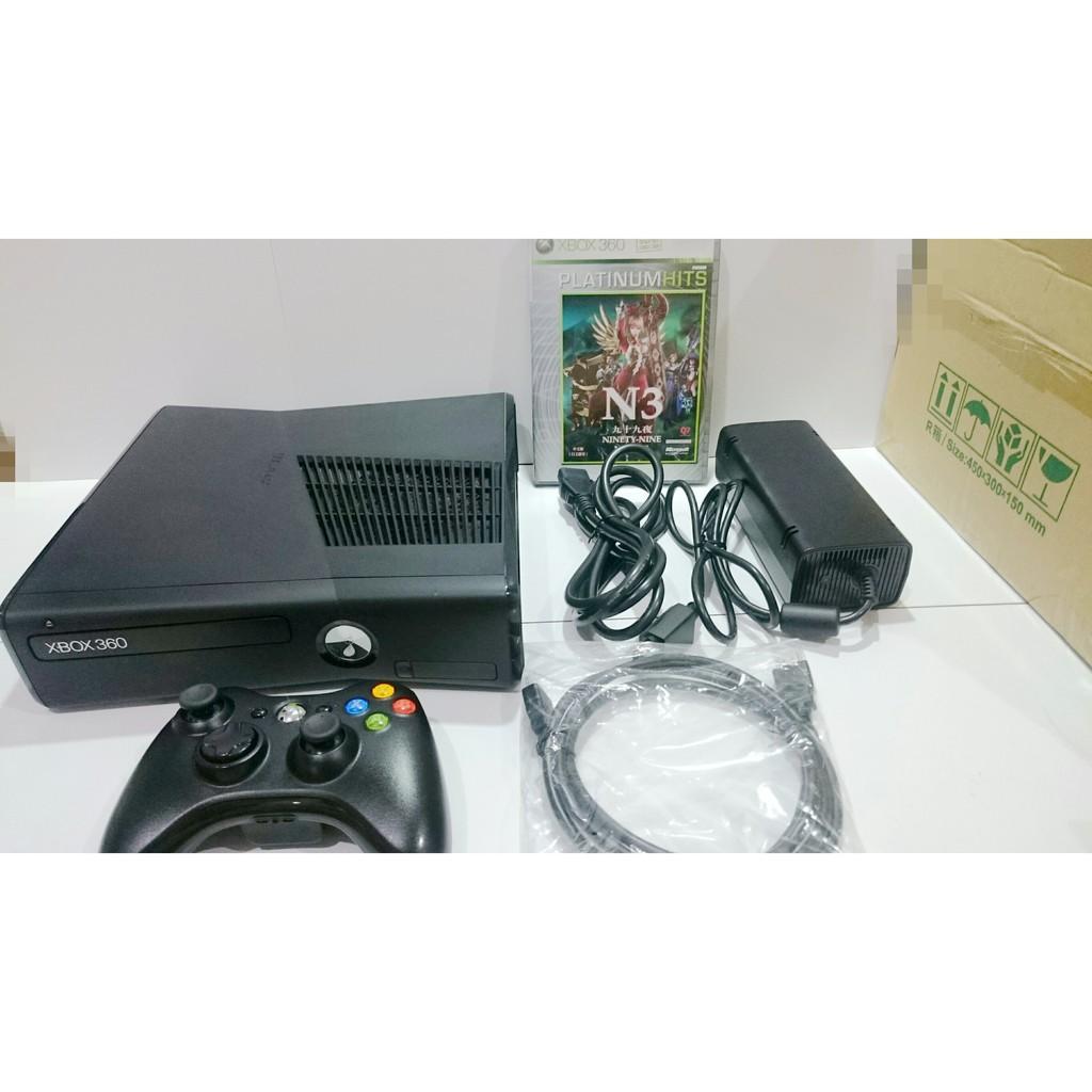 微軟 XBOX360 主機 後期新型機 F組 附全新HDM專用線 原廠手把 原廠變壓器電源