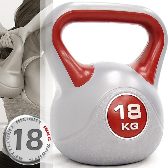 KettleBell運動18公斤壺鈴(39.6磅)18KG壺鈴C113-1818拉環啞鈴搖擺鈴.舉重量訓練重力健身器材
