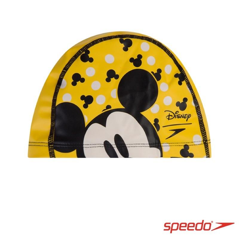 SPEEDO 兒童合成泳帽Pace-米奇 黃黑 SD8113077123