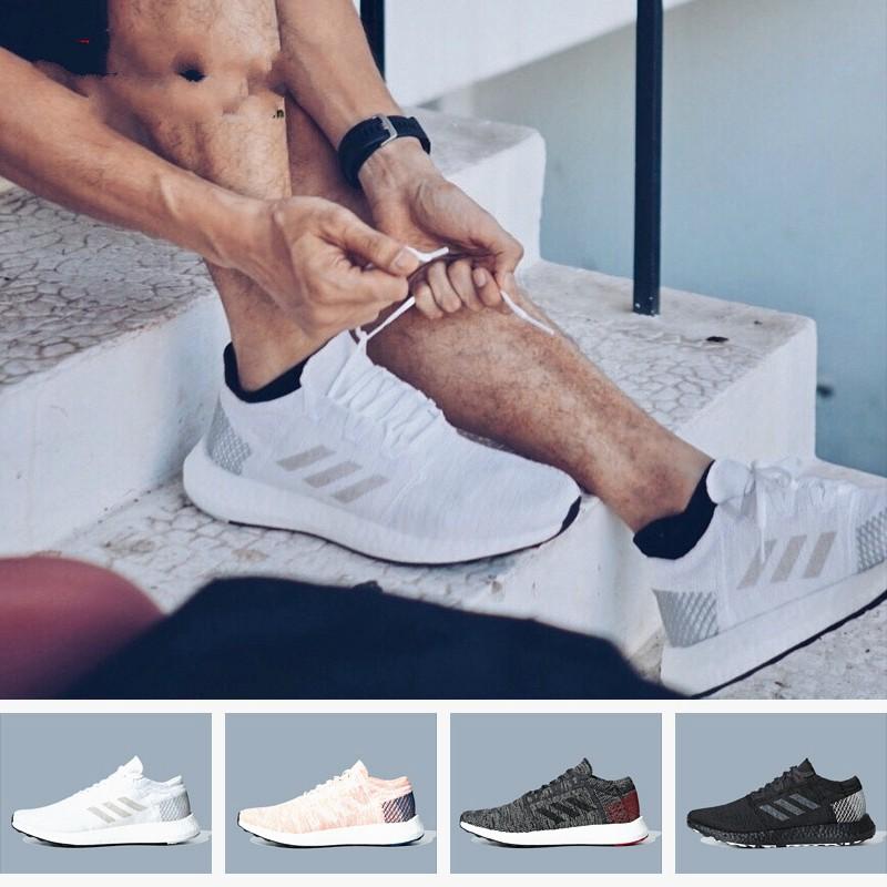 Adidas 愛迪達 男鞋女鞋PureBoost GO缓震透气跑步鞋AH2319F35787