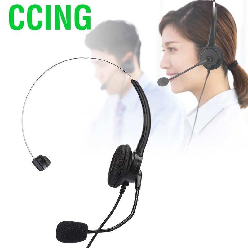 CCING電話單耳耳機座機帶家用麥克風的電話耳機