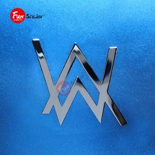 【新款金屬貼紙】Faded AlanWalker艾倫沃克DJ音樂標志手機貼紙筆記本電腦金屬貼紙