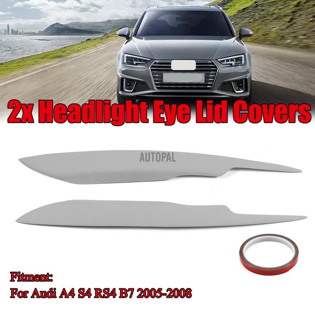 新品促銷 奧迪A4 S4 RS4 B7大燈罩歐元罩飾邊烤肉擾流板眼瞼眉毛