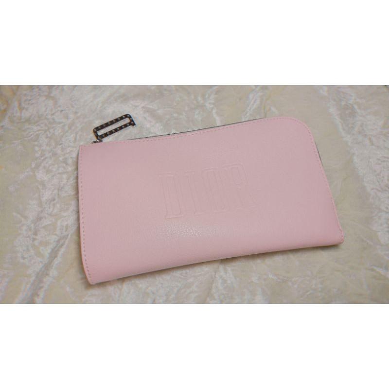 【Dior】迪奧 專櫃滿額贈品 手拿包/化妝包 裸粉