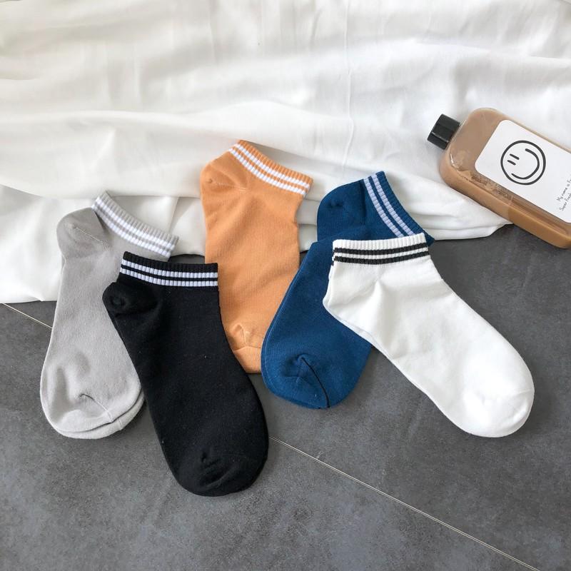 5色入 百搭 短襪 橫杆條紋 條紋短襪 單雙價格 短襪 球襪 基本款襪子 休閒襪 學生襪 間約襪子男女同款