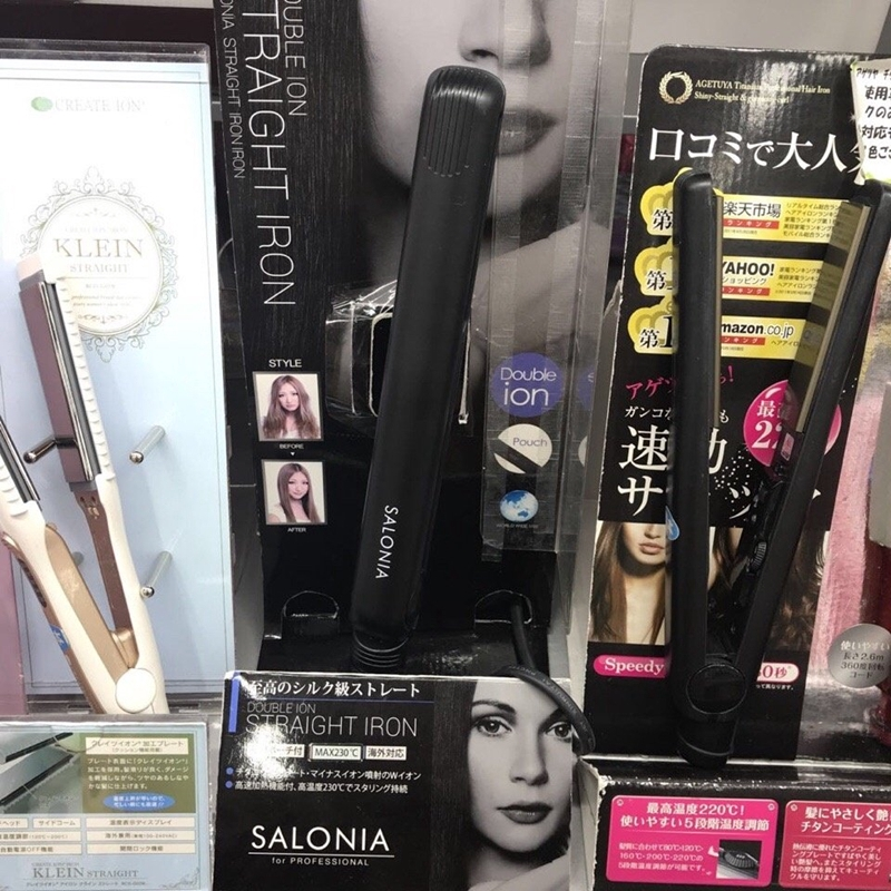 💖現貨不用等💖日本SALONIA直發棒卷直兩用直板夾負離子卷發器mini內扣夾板迷你 電捲棒 電棒 捲髮棒