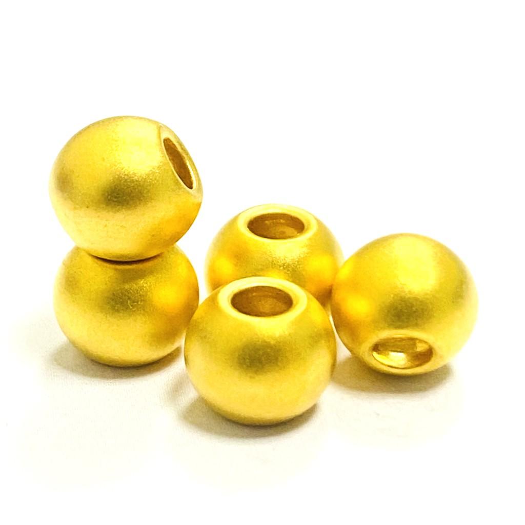 9999純金 黃金磨砂金珠 8mm 約0.1錢 黃金手鍊 黃金手環 黃金項鍊 黃金DIY 黃金串珠 金喜飛來