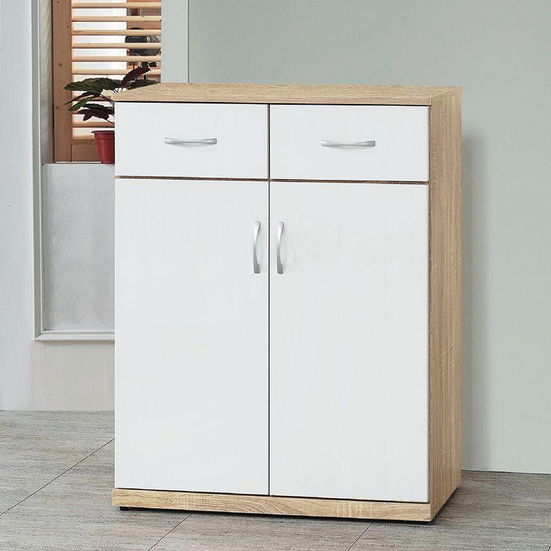 【YA510-4】寶兒橡木雙色2.7尺鞋櫃