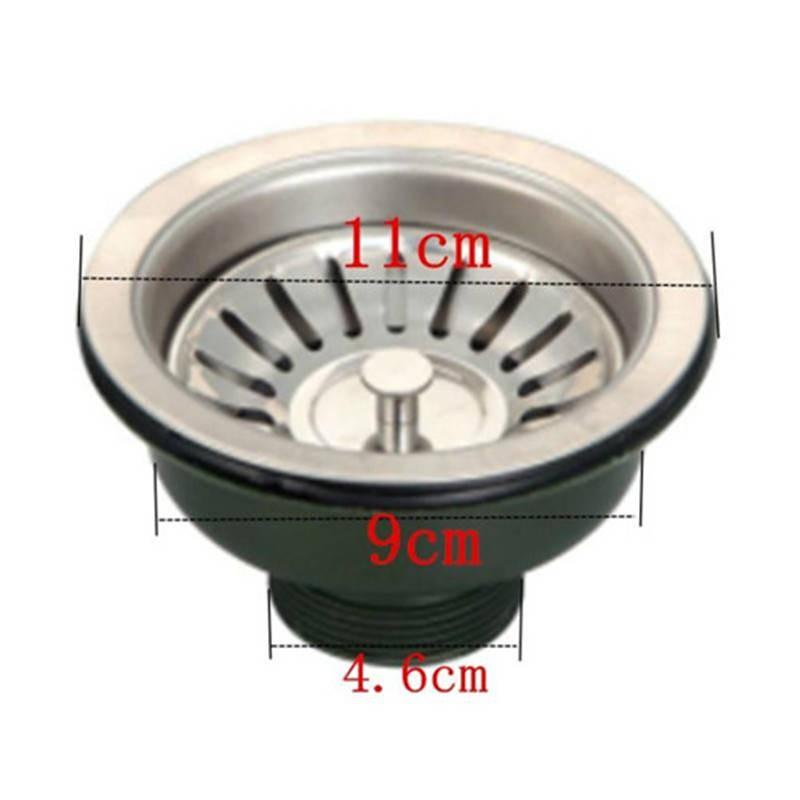 d折扣促銷老式半鋼110下水器廚房不銹鋼盆洗碗池單槽雙槽落水配件帶轉接頭