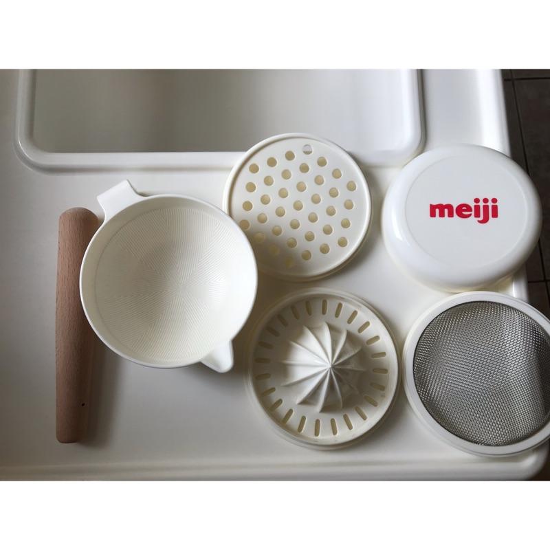 明治 meiji副食品六件組/全新/只下水清潔過