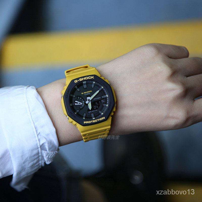 速遞卡西歐新款橡樹八角碳纖維運動手錶GA-2110SU-9A 3A GA-2100SU-1A秋季夏季新品 5BkU