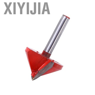 Xiyijia 銑床CNC雕刻V形鑽頭6mm x 32mm 90度新