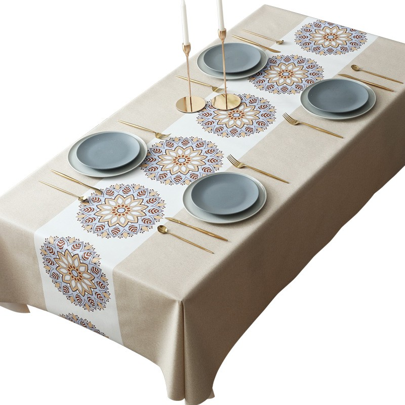 桌旗桌布防水防油免洗網紅款ins餐桌布布藝北歐風長方形茶幾臺布