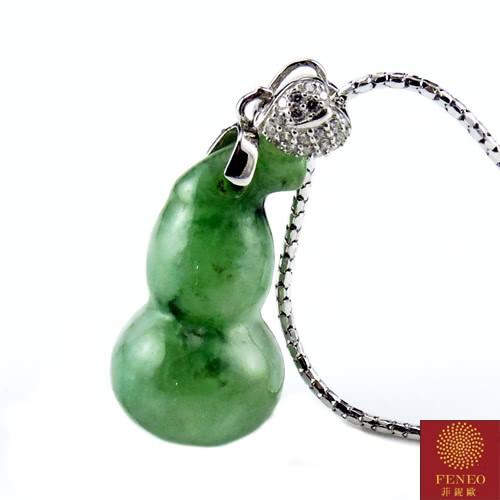 【菲鈮歐】開運福祿雙至天然A貨翡翠項鍊(1433)