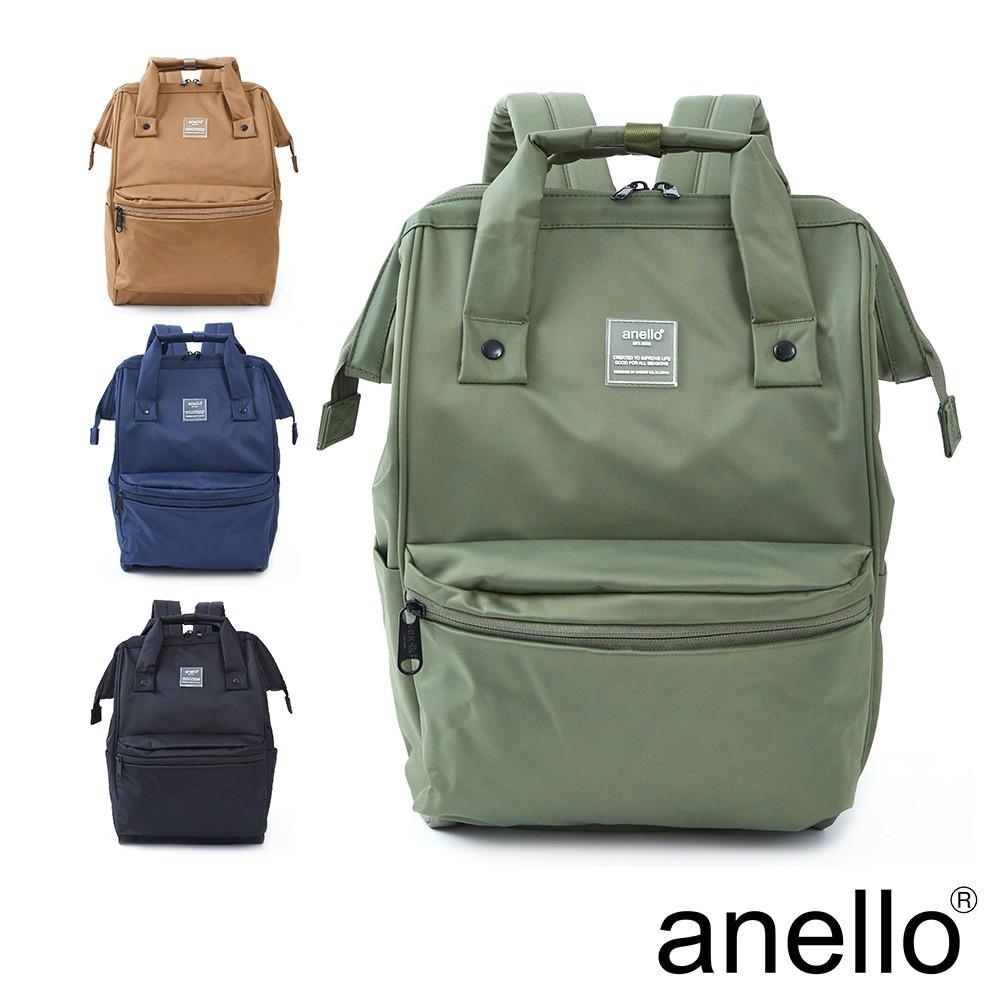 anello SHIFTⅡ 純色極簡百搭防潑水尼龍口金後背包 Regular size (ATC3473)