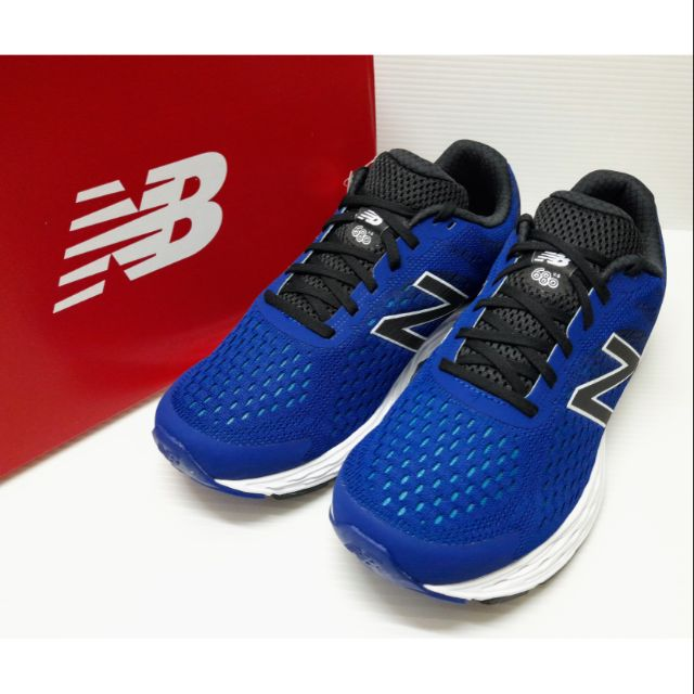 ✩Pair✩ NEW BALANCE 慢跑鞋 男鞋 M680CT6 4E超寬楦 輕量 透氣 避震 舒適好穿 藍色 NB