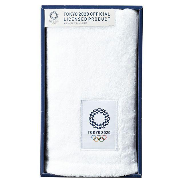 東京奧運 100%棉 純白毛巾 約34×80cm 禮盒 東奧 紀念品週邊官方商品 現貨商品 售完為止