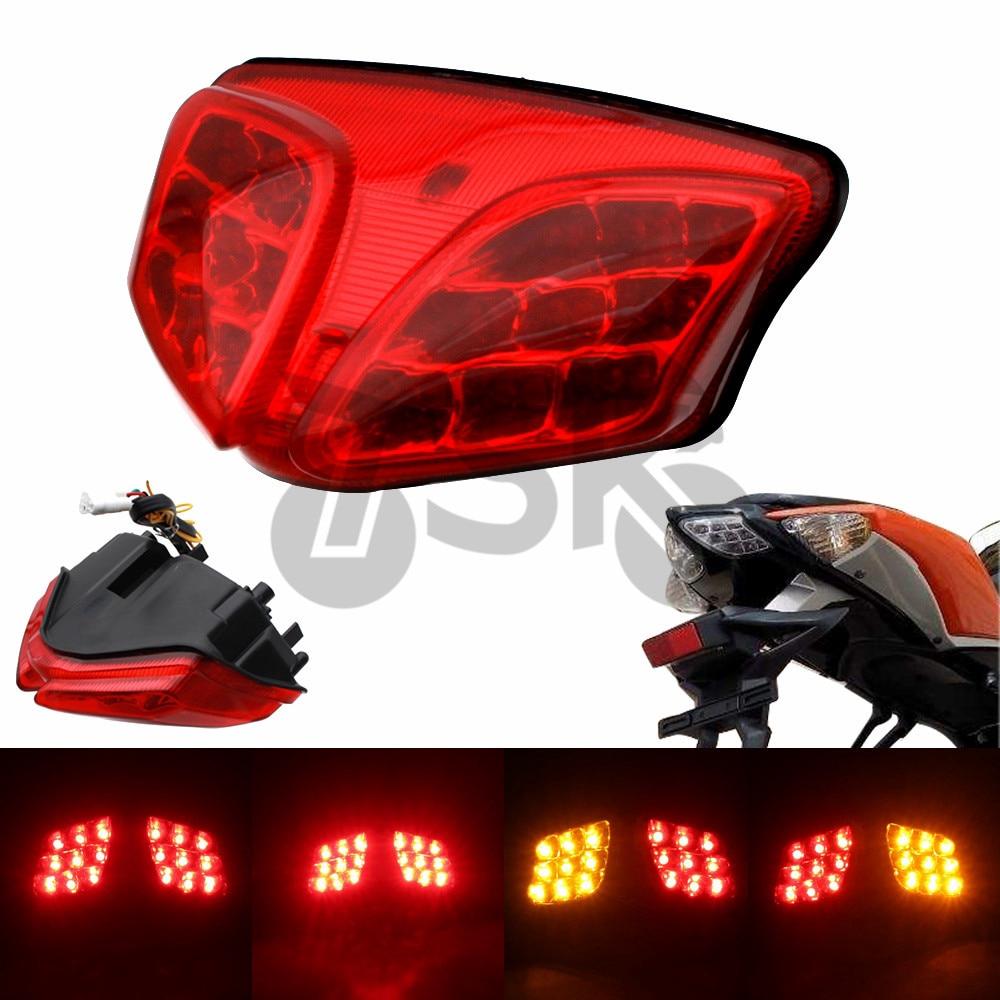 鈴木GSXR GSX-R 600 750 2008-2012高品質K8 K9集成式LED後尾燈轉向燈