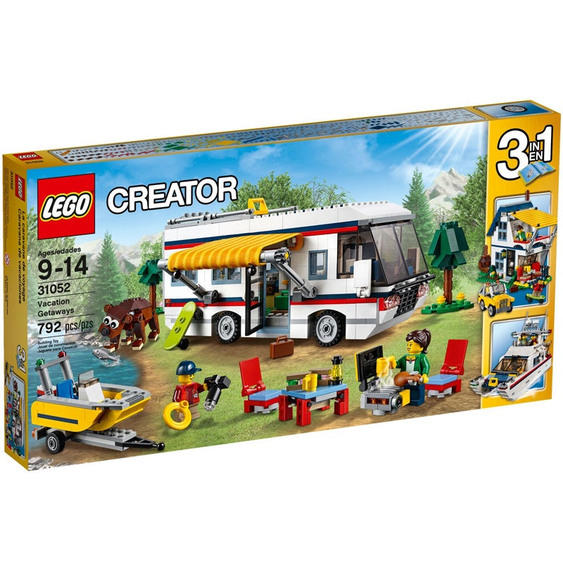 兼容樂高度假露營車31052創意百變CREATOR三3變拼裝積木益智玩具便利購