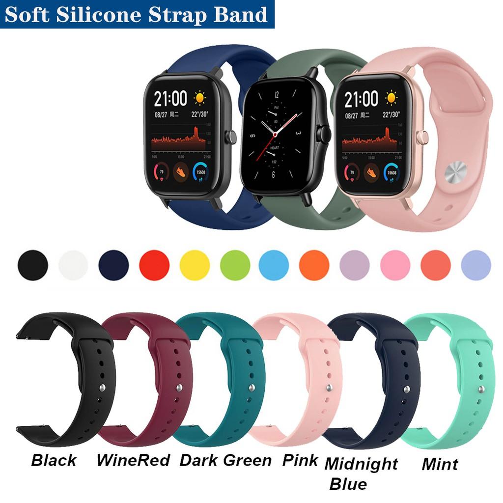 適用於 Huami Amazfit Gts 2e Gts2 Mini 的錶帶軟矽膠錶帶
